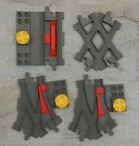 LEGO DUPLO TRAIN TRACK  & TRACK CROSSING ,2 JUNCTIONS ,1 STATION STOP
