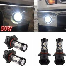 50W High Power 2PCS 6000K CREE LED Chips Super Daytime Running Fog Lights Bulbs