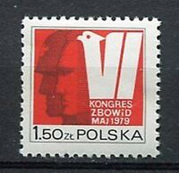 35954) Poland 1979 MNH Freedom Fighters Congress 1v