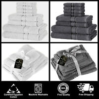 EGYPTIAN COTTON TOWEL BALE SET FACE HAND BATH TOWELS SOFT THICK ABSORBENT 8 PC