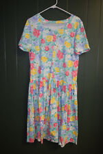 New listing Vintage 1990s Retro Clothes Flowered Dress Size 10 Homemade