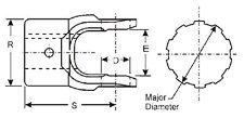 12-1181 PTO 6 Spline End Yoke 1.125 Shaft 1 1/8 Series 1200