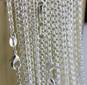 1PCS 22inch Wholesale Fashion Jewelry Lot 925 Silver Pearl Cross Chains Necklace