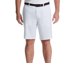 PGA Tour Mens Golf Shorts Bright White Club Print Stretch Seams Sizes 40 42 44
