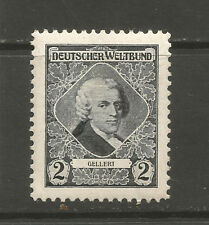 Austria/Vienna German World Federation contribution stamp (Christian Gellert)