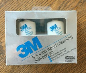 3M 3.5 Inch Head Cleaning Diskette Kit 30 Cleanings New Sealed