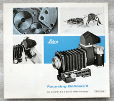 LEICA LEITZ VISOFLEX FOCUSING BELLOWS II sales brochure booklet