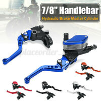 2x 7/8'' Motorcycle Motorbike Front Brake Clutch Master Cylinder Lever