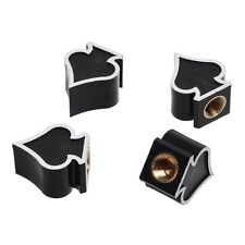 4pcs Ace of Spades Wheel Tire Air Valve Stem Cover Caps For Bicycle Car Bike New