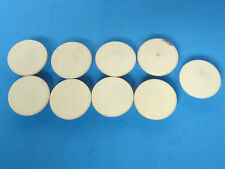 9 VINTAGE FURNITURE 1 34in.WHITE WOOD PULL KNOBS