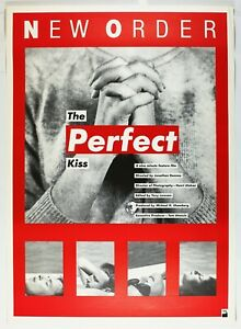 1985 New Order The Perfect Kiss Music Video Promotional Poster Jonathan Demme