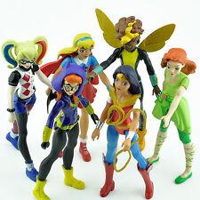 DC Comics Super Hero Girls Wonder Woman Harley Quinn Kid Action Figures Doll 6PC