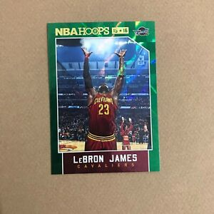 2015-16 Panini Hoops LeBron James Green Refractor Insert #14 Cavs