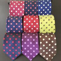8cm Men Polka Dot Jacquard Casual Necktie Wide Party Wedding Neck Tie BWTHZ00027