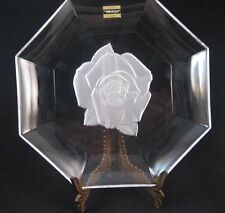 Mikasa Crystal Silver Rose Plate/Dish Made In Japan NWT New