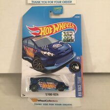 '12 Ford Fiesta #210 * BLUE * 2017 Hot Wheels FACTORY SET Edition
