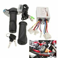 24V 500W DC Motor Brush Speed Controller & Electric Bike Throttle Twist Grips !