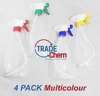 4 x Trigger Spray Bottles 500ML for Kitchen, Valeting, Air Freshening: Tradechem
