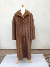Real genuine MINK fur coat mid brown colour in mint condition UK 12 14 16