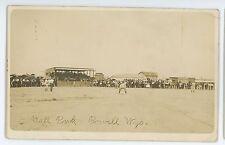 RPPC BASEBALL Park Stadium POWELL WY Vintage Wyoming Real Photo Postcard
