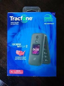 TracFone Alcatel My Flip 2 - Black (Unlocked) Flip Phone NEW Open Box