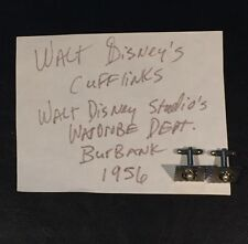WALT DISNEY 1956 Worn Used Owned Cufflinks Disney Wardrobe Prop LOA PROVENANCE