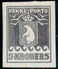GREENLAND 5kr Pakke Porto BlackPrint Imperf Cinderella, only 100 made