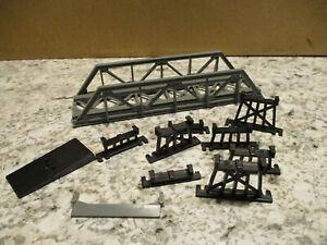 HO scale bridge kit with some trestles