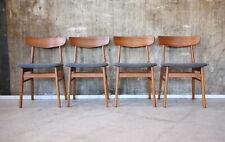 4 x 60er Farstrup Teak Esszimmerstühle Mid-Century 60s Dining Chairs Vintage
