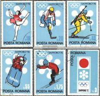 Rumänien 2984-2989 (kompl.Ausg.) gestempelt 1971 Olympische Winterspiele 1972