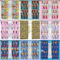"Official Licensed Character Pleated Curtains 54"" or 72"" Drop Kids Boys Girls"