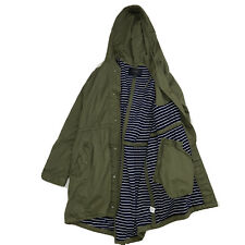 J.Crew Womemens Olive Green Trench Coat Size XL  With Hoodie