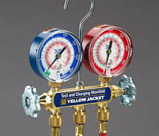 "Yellow Jacket 42024 Manifold w/3-1/8"" Gauge, Bar/Psi, R-410A"