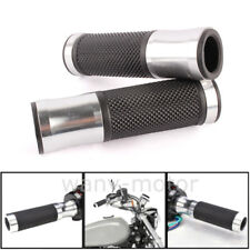 """Black Motorcycle Rearview Side Mirrors Hand Grips 7/8"""" Bar End For Sports Bikes"""