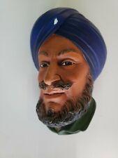 "Vintage Bossons Congleton, England, ""Sikh"" 1964, Chalkware"
