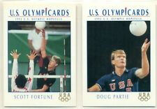 U.S. OLYMPICARDS - 1992 - VOLLEYBALL INSERT TRADING CARD LOT - 2 CARDS - PARTIE