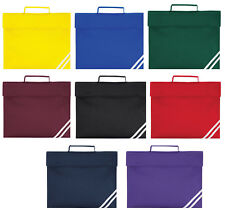 Quadra Book Bag A4 School Bag Satchel Briefcase in 8 Colours QD456