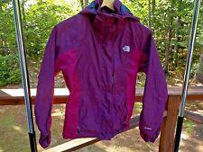 The North Face Women's Ladies S HYVENT Nylon Purple Hooded Shell Jacket Coat