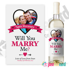 Personalised Will You Marry Me Engagement wine label gift