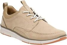 NEW- CLARKS COLLECTION Men's ''ORSON BAY'' Leather Sand Nubuck Shoes SIZE- 11.5