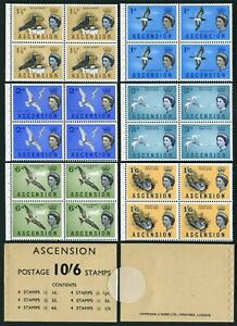 Ascension 84a booklet,MNH. Birds 1963:Brown,black booby,black noddy,Fairy Tern