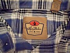 LARRY MAHAN Cowboy Collection Western Plaid LS Buttonfront Shirt Size XXL