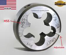 "Lighthouse quality tools® 5/8-24 RH Adjustable HSS round threading Die 1-1/2"" OD"