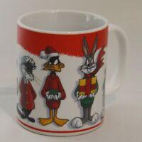 Looney Tunes Christmas Mug Cup by Warner Bros 1995 Collectible Bugs Bunny Cup