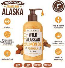 New listing 32 oz Wild Alaskan Salmon Oil for Dogs & Cats, Liquid Omega Formula w/Pump, New