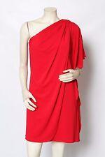 BADGLEY MISCHKA Belle Red One Shoulder Draped Cocktail Dress Sz 4 NWT $149