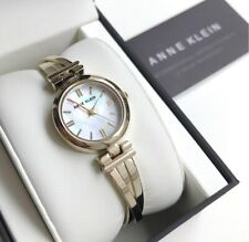 Anne Klein Watch * 1170MPGB Mother of Pearl Gold Tone Twist Bangle for Women