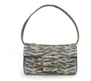 Auth FENDI Shimmer Mini Bag