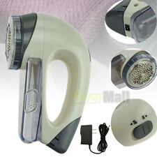 Electric Clothes Lint Pill Fluff Remover Fabrics Sweater Fuzz Shaver + Adapter
