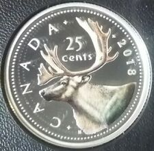 2018 Quarter 25-Cent Proof Pure Silver Colour Coin Canada Moose Classic Design